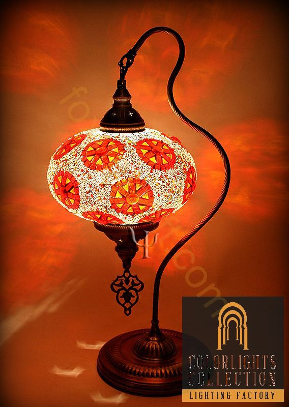 Mosaic lamps ottoman lamps turkish lighting for White mosaic floor lamp